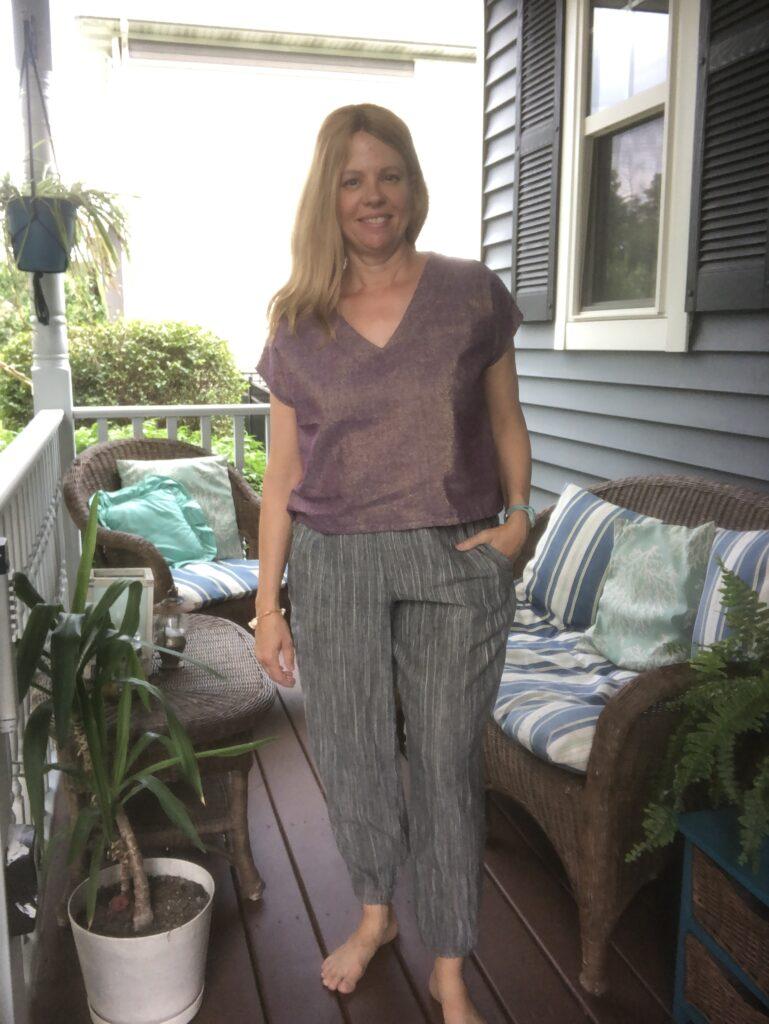 Luna jogger pants and Antero shell top